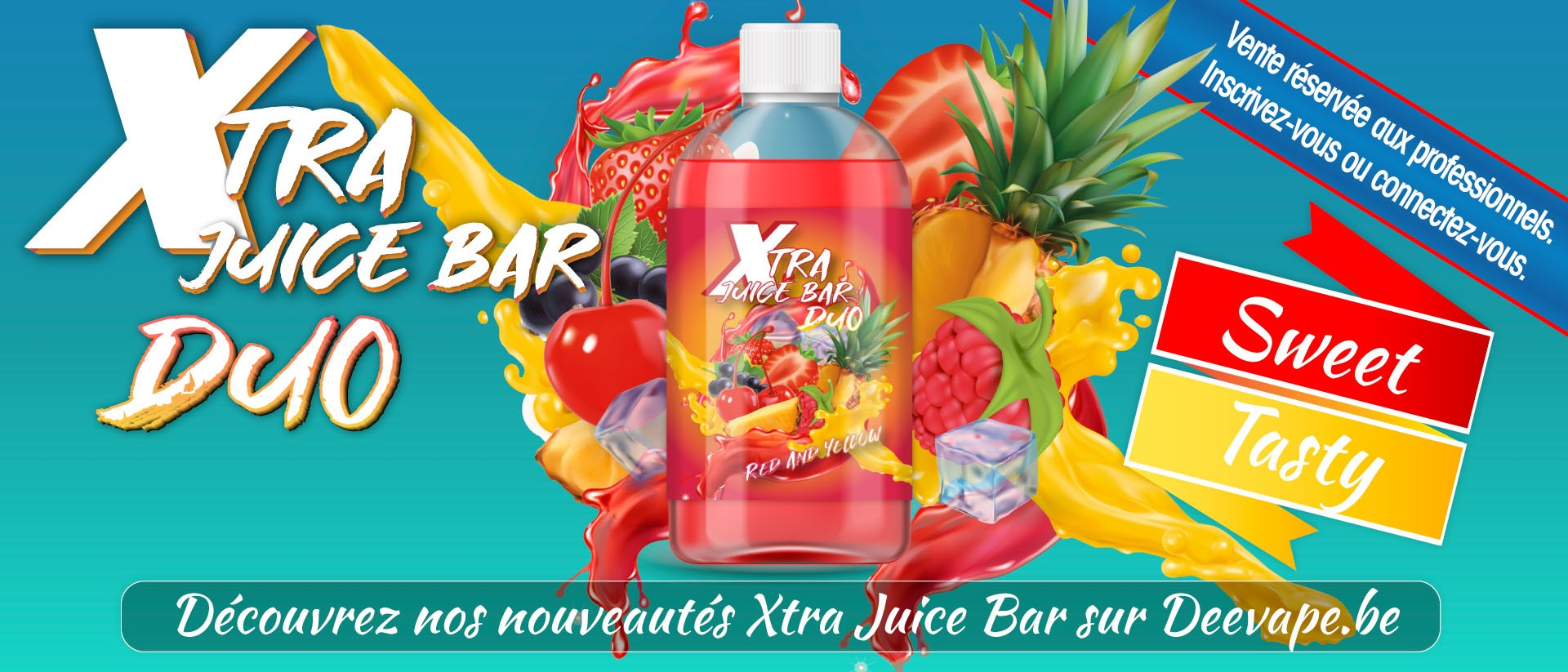 NOUVEAU XTRA JUICE BAR DUO RED AND YELLOW